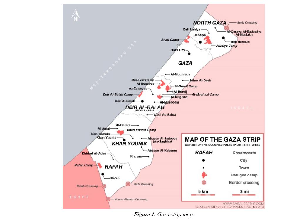trauma-critical-care-gaza-strip-map